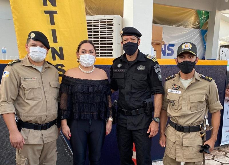 Deputada Luana prestigia lançamento do sistema de tecnologia embarcada da Polícia Militar em Gurupi
