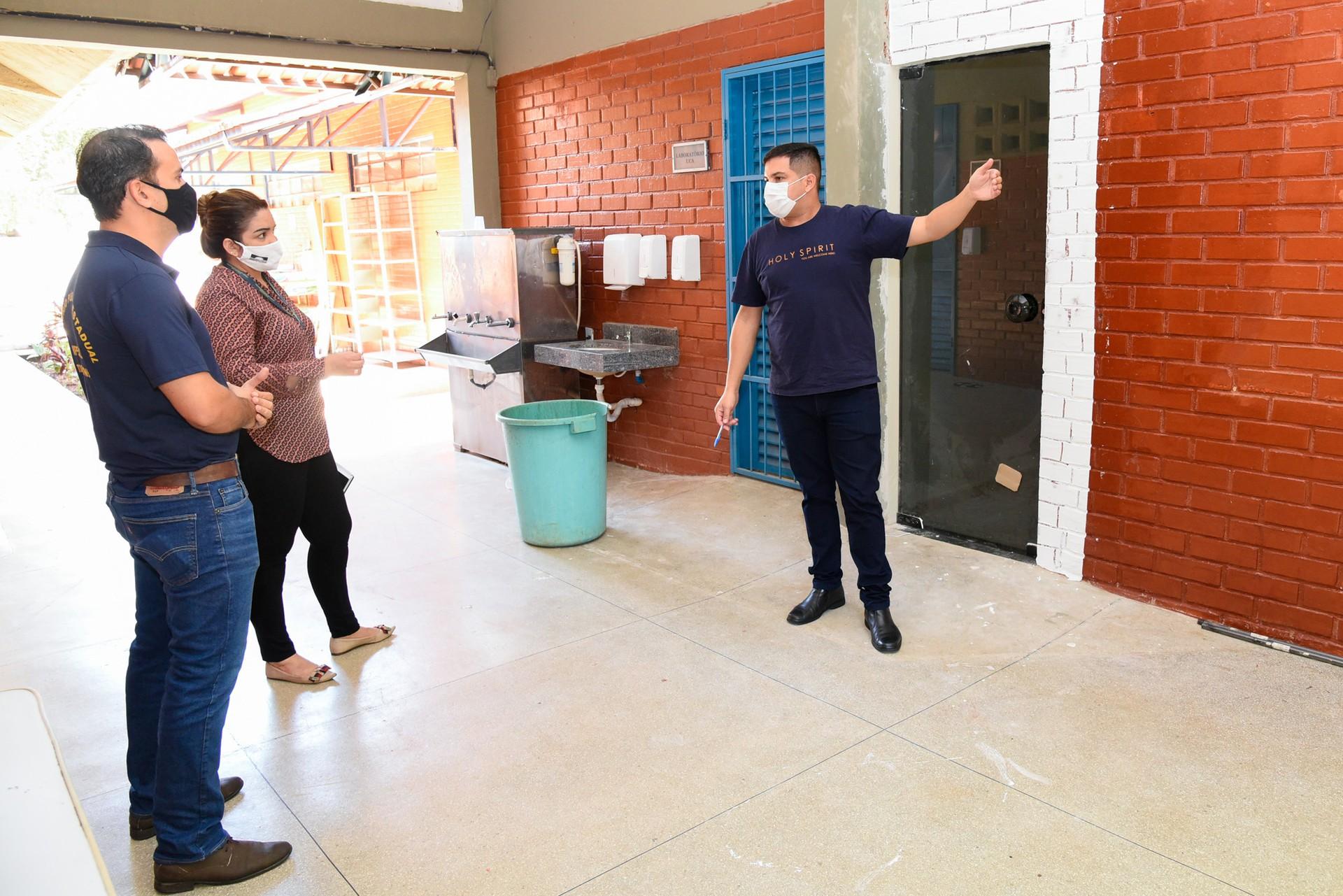 Escolas da capital recebem equipe do MPTO para vistoria das medidas de prevenção da Covid-19