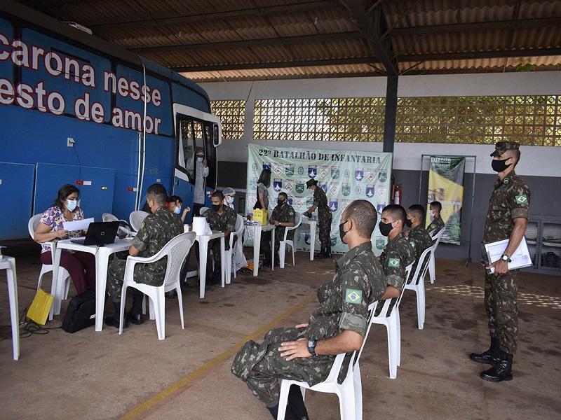 22º Batalhão de Infantaria realiza ação de doação de sangue durante a Semana do Exército