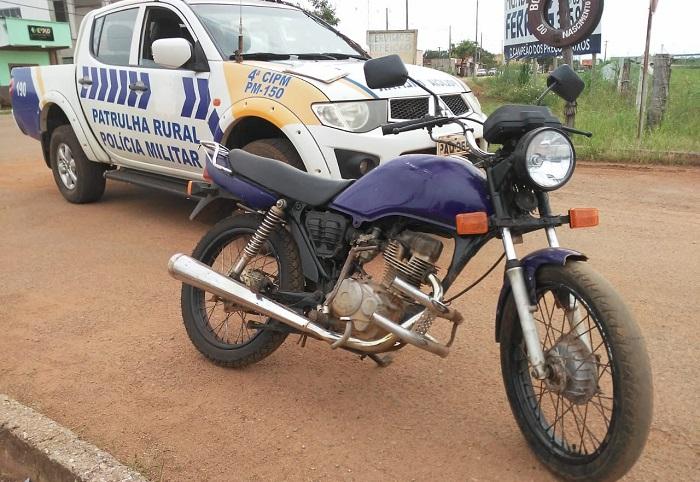 Homem é preso por receptação e veículo recuperado pela PM em Lagoa da Confusão