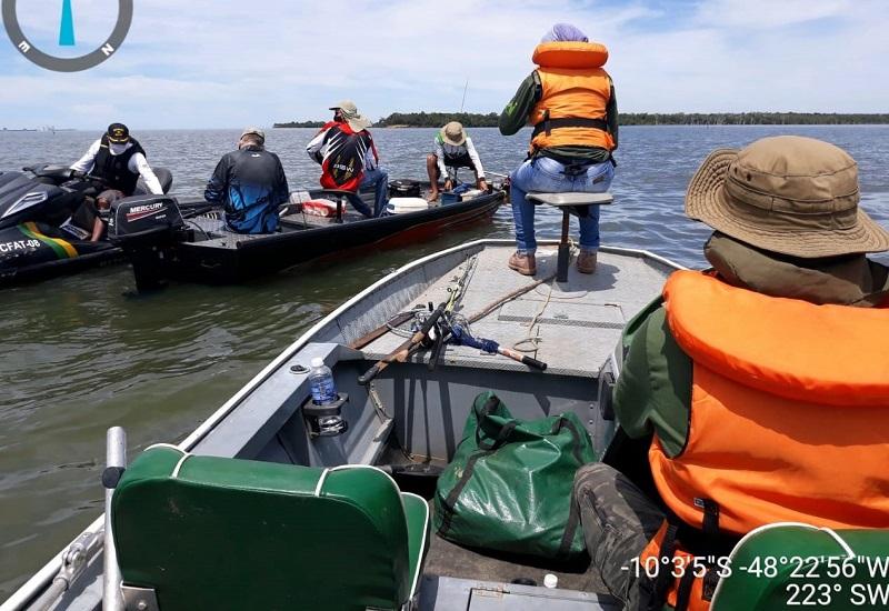 Ação conjunta entre órgãos federais e estaduais apreendem 1.990 metros de redes de pesca no Lago da UHE do Lajeado