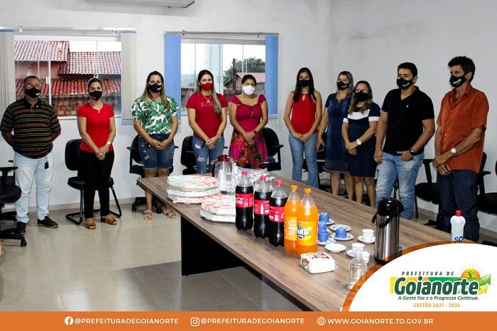 Prefeita de Goianorte se reúne com secretariado para avaliar os 100 dias de gestão