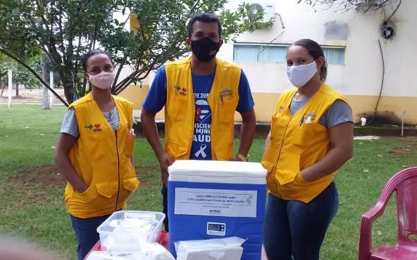 Saúde de Barrolândia vacina equipe da Vigilância Sanitária contra a Covid-19