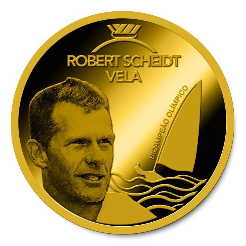 Casa da Moeda do Brasil abre venda da série de medalhas em homenagem a Robert Scheidt