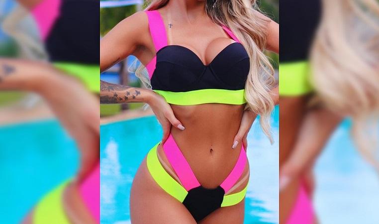 Temporada de praia vem aí e biquínis neon aparecem como tendência no verão