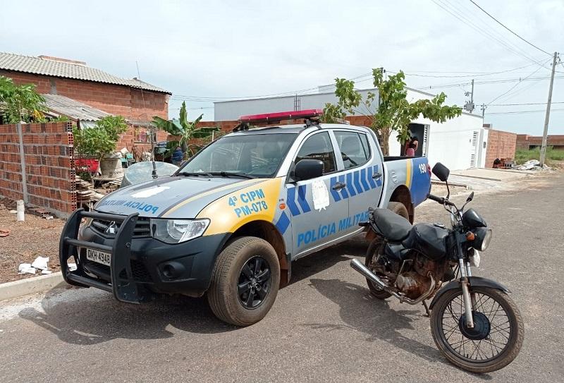 4ª CIPM recupera moto furtada no momento em que atendia ocorrência de furto a residência em Lagoa da Confusão