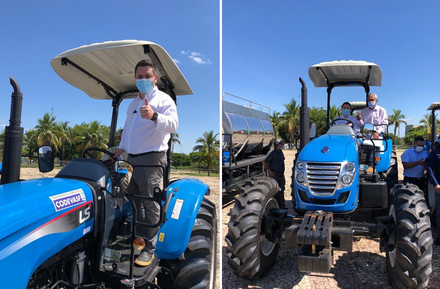 Tiago Dimas e Codevasf entregam caminhão, tratores e equipamentos agrícolas para associações, Cooperativa e Prefeitura