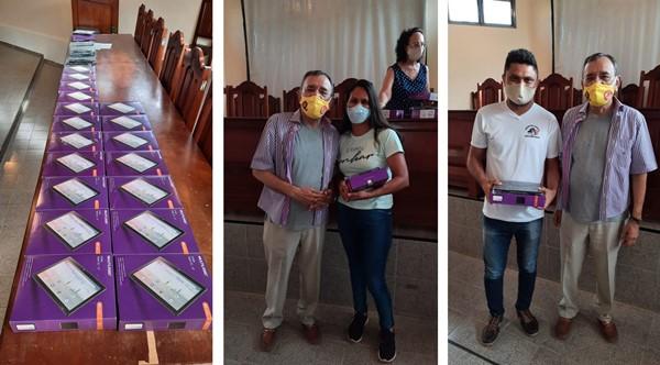 Agentes de saúde de Pium recebem tablets para atendimento domiciliar