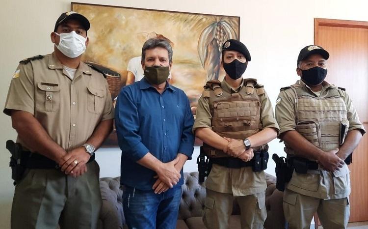 Polícia Militar solicita apoio de Damaso para a cobertura de estande de tiro na Capital
