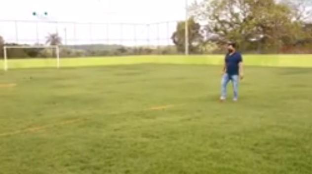 Obra do campo de futebol society de Rio dos Bois entra em fase final