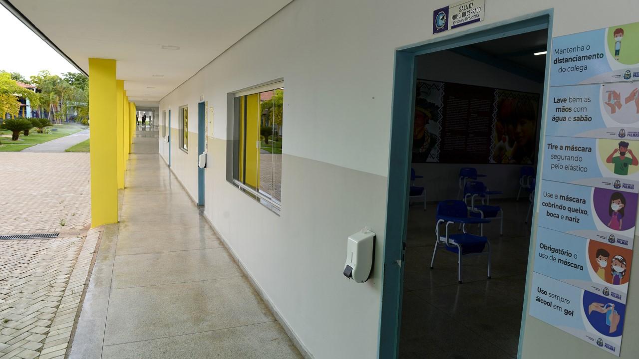 Retomada das atividades escolares na rede municipal de ensino em Palmas, em formato híbrido