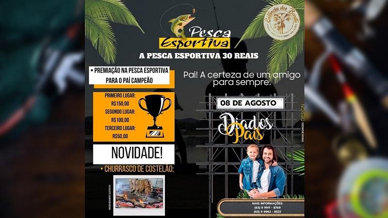 Estância dos Buritis promove torneio de pesca em comemoração ao Dia dos Pais em Paraíso