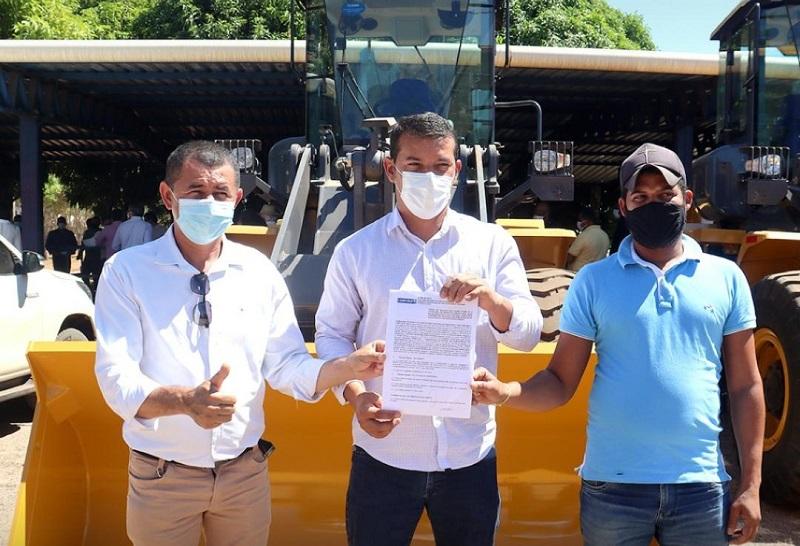 Marianópolis recebe novo maquinário agrícola da bancada federal do Tocantins