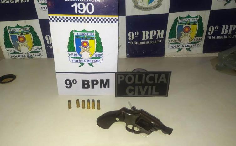 PM e PC prendem homem por posse ilegal de arma de fogo em Sampaio
