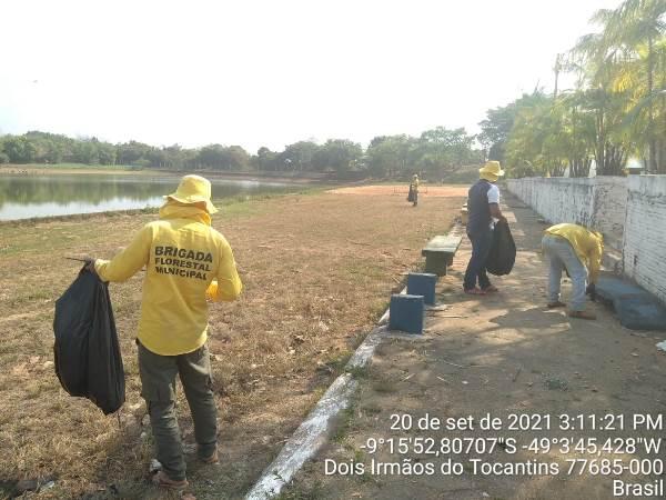 Brigada Ambiental de Dois Irmãos atua no combate de pragas e realiza limpeza do Balneário Canudos