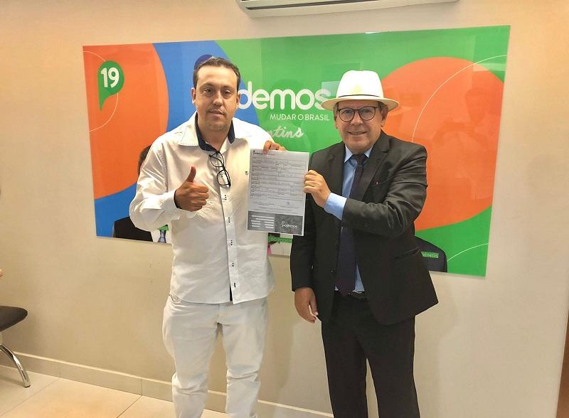 Em Paraíso, Dr. Danilo se filia ao Podemos, mira vaga na AL e reforça time de Ronaldo Dimas