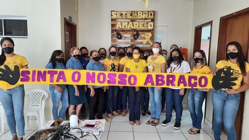 Prefeitura de Pium realiza ação de valorização à vida alusiva ao Setembro Amarelo
