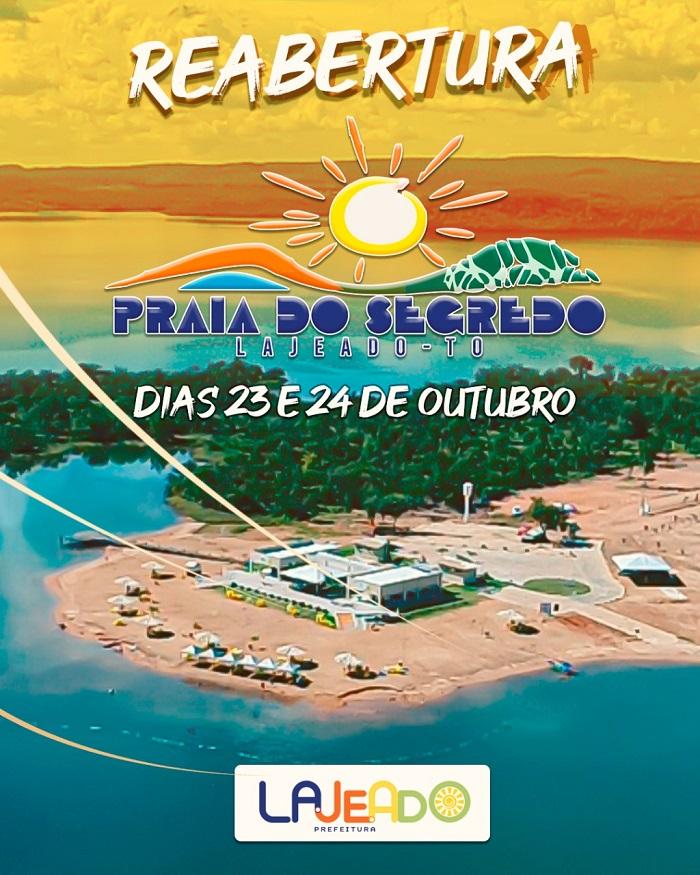 Praia do Segredo será reaberta pela Prefeitura de Lajeado no próximo sábado, 23