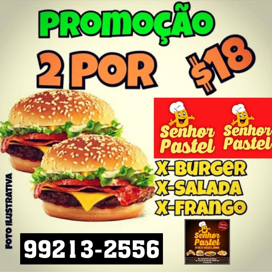Senhor Pastel oferece dois sanduíches por 18 reais nesta terça, em Paraíso