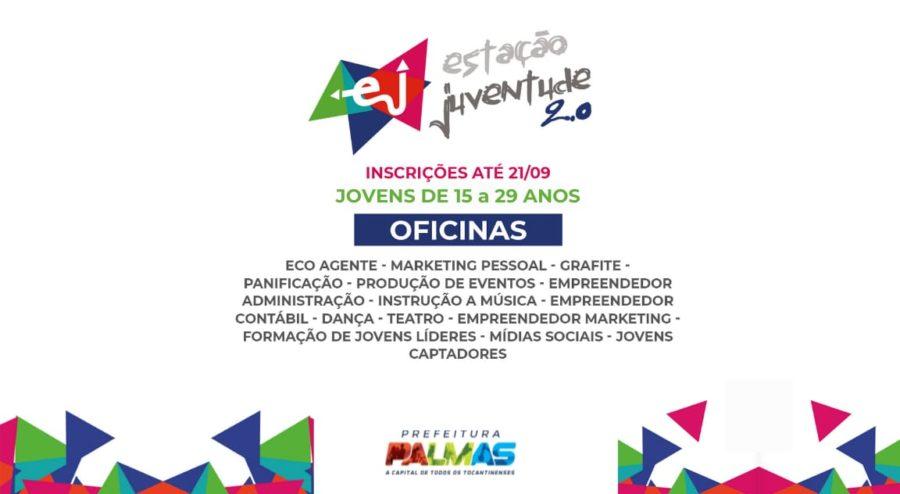 Inscrições para oficinas da Estação Juventude 2.0 terminam nesta terça-feira, 21 em Palmas