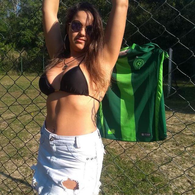 Modelo Silvana Gromnicki se destaca como candidata à Musa da Chapecoense