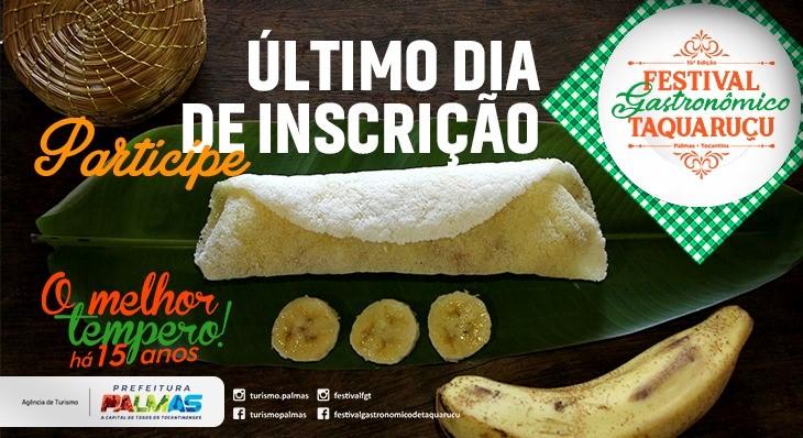 Prefeitura de Palmas prorroga inscrições para o 15º Festival Gastronômico de Taquaruçu