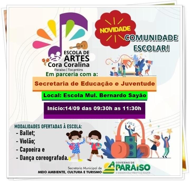Escola de Artes Cora Coralina e Secretaria de Educação firmam parceria para atender crianças dos distritos