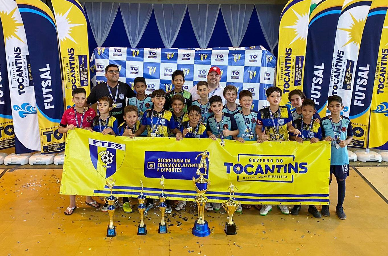 CFA Grêmio de Palmas vence a Copa Governo do Tocantins de Futsal Sub-11