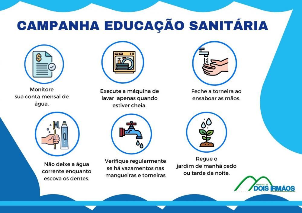 Prefeitura de Dois Irmãos promove campanha para estimular uso consciente da água