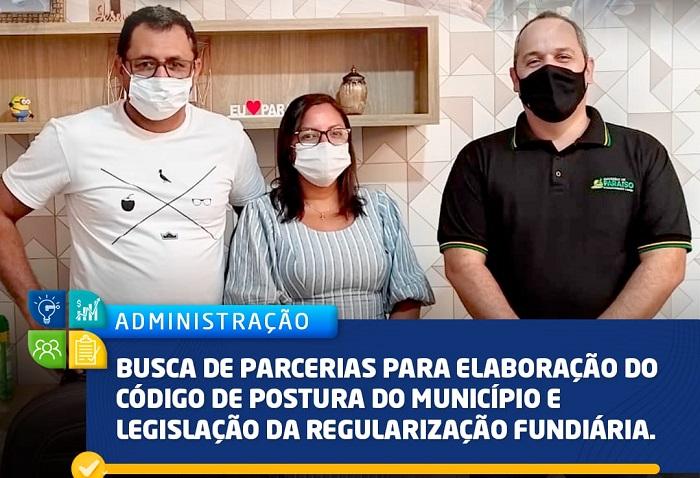 Em visita a Paraíso-TO, Governo de Marianópolis articula novo Código de Posturas e Obras do município