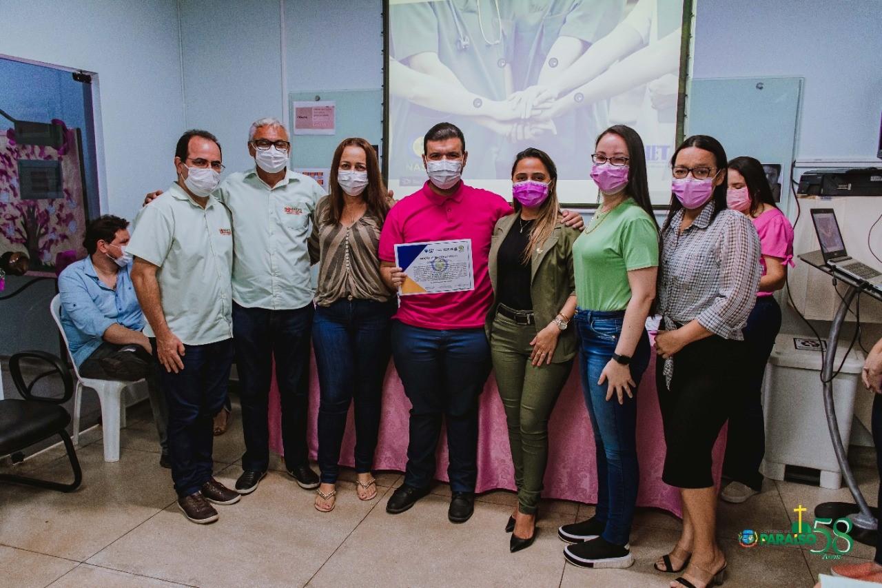 Servidores da Saúde recebem homenagem no Hospital Regional de Paraíso
