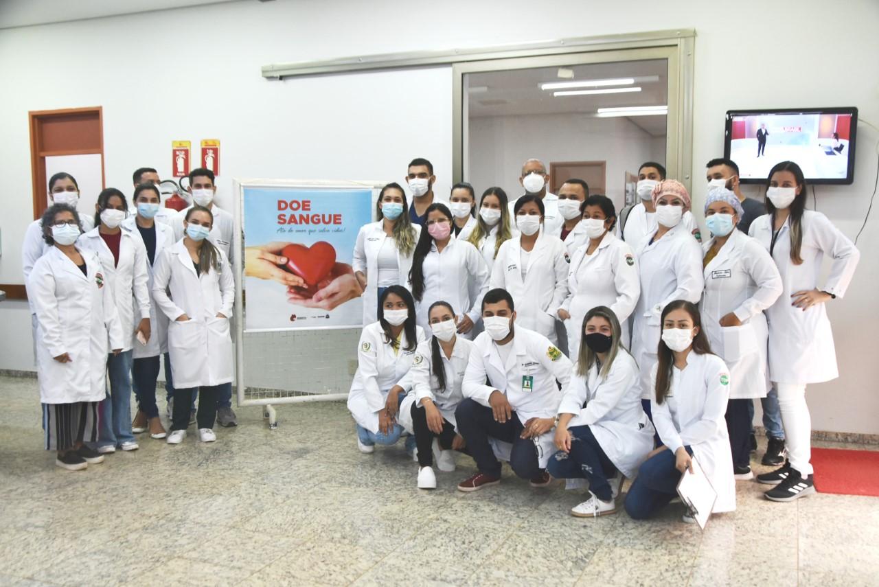 Hemorrede e alunos de enfermagem da Faculdade ITOP, realizam campanha de doação de sangue