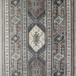 Suri Alpaca Persian Hand-knotted Persian Rug #1610, Grey/Sand