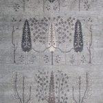 Suri Alpaca Persian Hand-knotted Persian Rug #1620, Lt. Grey