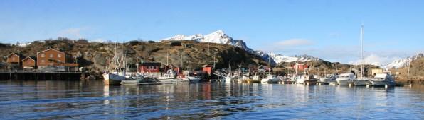 Stamsund sans neige, Lofoten. Mars 2012