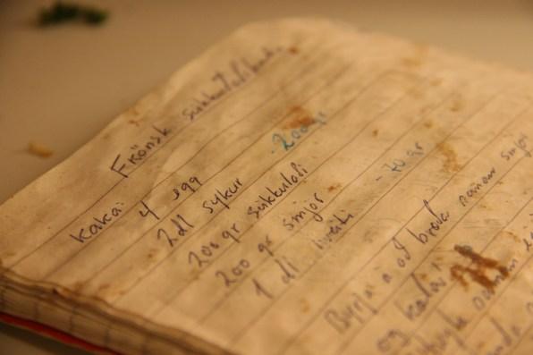 Holmavic_125 livre de recettes en islandais, Islande, septembre 2012