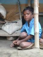Petit garçon du village santal de Bishnubati