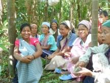 Femmes khasies aux champs