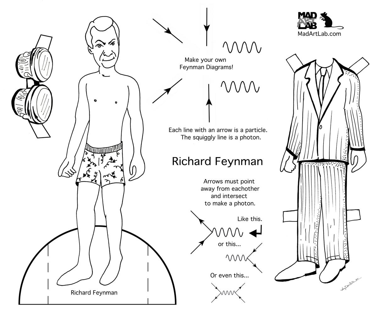 Scientist Paper Dolls Science Storiented