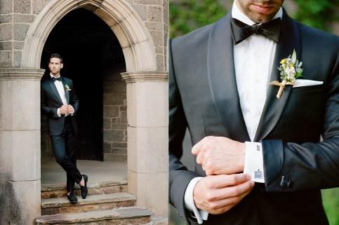 man wedding with black tuxedo