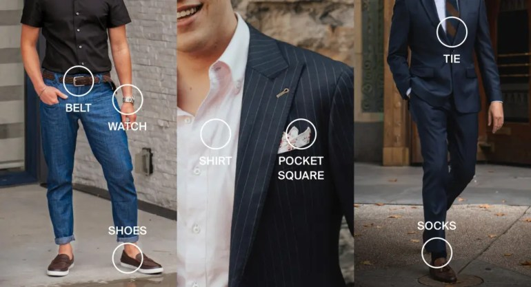 Infogrpahics of how to match accessories