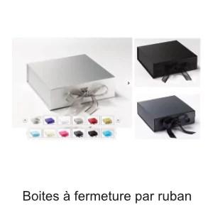 boite fermeture ruban