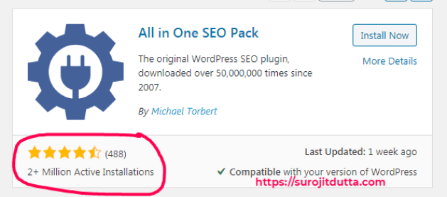 Wordpress Plugins All In One SEO