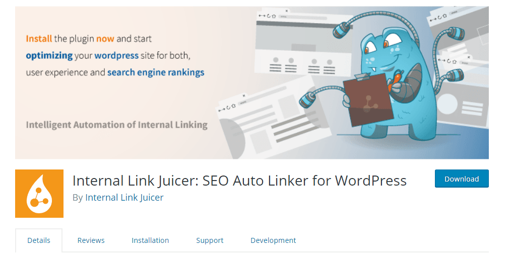 Internal Link Juicer WordPress SEO plugings.