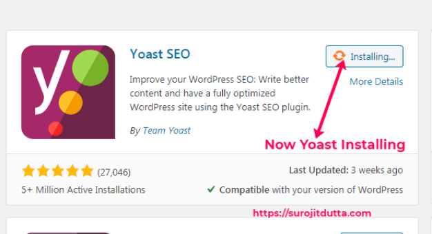 Yoast Installation Process 2