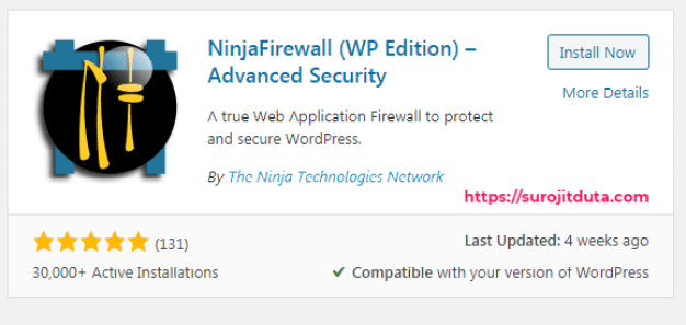 Ninja Firewall WordPress Security