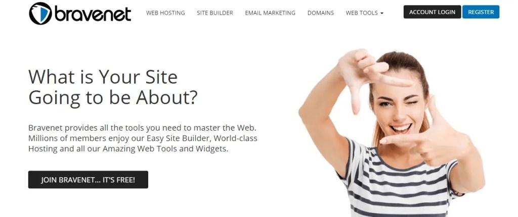 Bravenet- free web hosting sites