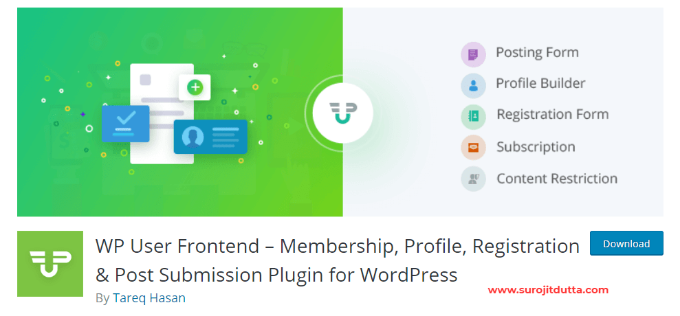 Wp-user Frontend WordPress Membership Plugins