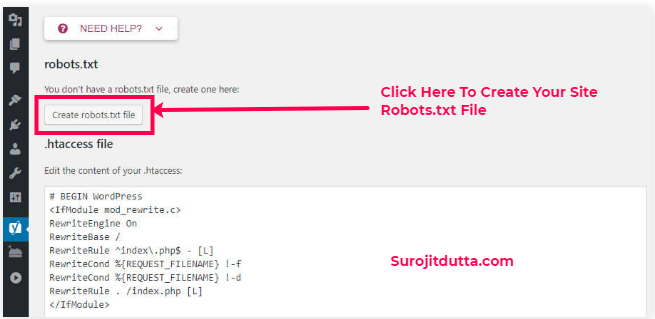 Create WordPress Robots.txt File Using Yoast Plugins