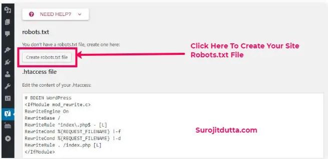Create WordPress Robots.txt File Using Yoast Plugins